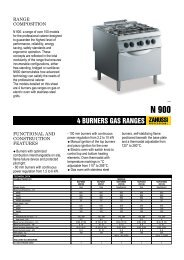 4 BURNERS GAS RANGES - Progastro