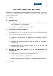 Gewijzigde Agenda BAVA 2 augustus 2013 - Imtech