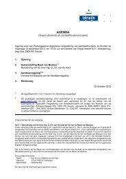 Agenda AGM 10 december 2012 - Imtech