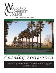 Catalog 2009-2010 - Woodland Community College - Yuba ...