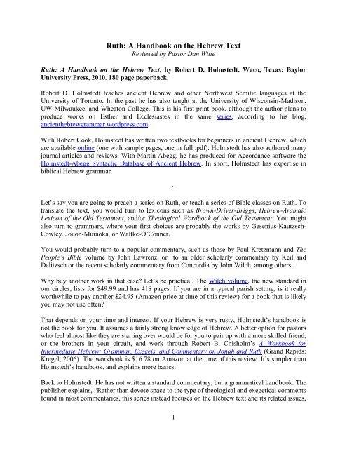 Ruth Handbook Review (Witte) pdf