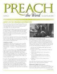 Vol. 8.2 Preach the Word Nov/Dec 2004