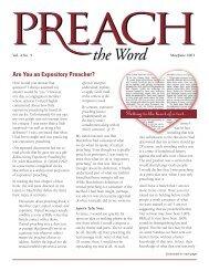 Vol. 4.5 Preach the Word May / Jun 2001