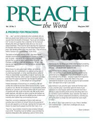 Vol. 10.5 Preach the Word May / Jun 2007 - Grow in Grace