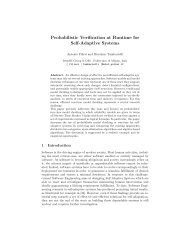 Probabilistic Verification at Runtime for Self-Adaptive Systems