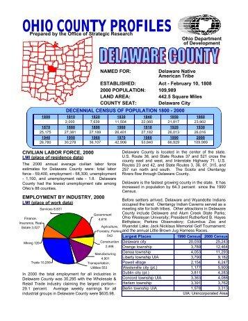 OHIO COUNTY PROFILES - Delaware County, Ohio