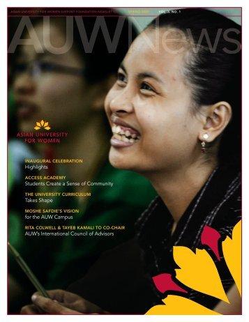 Spring 2009 - Asian University for Women