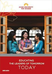2014 AUW Admission Prospectus (PDF) - Asian University for Women