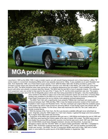 MGA profile - Buying an MG