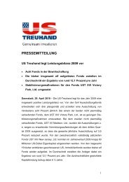 PRESSEMITTEILUNG - US-Treuhand