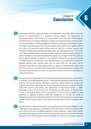 Conclusion - Comptroller and Auditor General of India