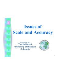 Issues of Scale and Accuracy - Missouri Spatial Data Information ...