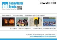 TeamPlayer Events - Wir verbinden Menschen