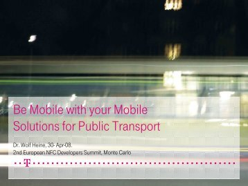 Be Mobile with your Mobile Solutions for Public Transport - WIMA