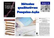 Métodos qualitativos: Pesquisa-Ação - Carlosmello.unifei.edu.br