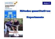 Métodos quantitativos: Experimento - Carlosmello.unifei.edu.br