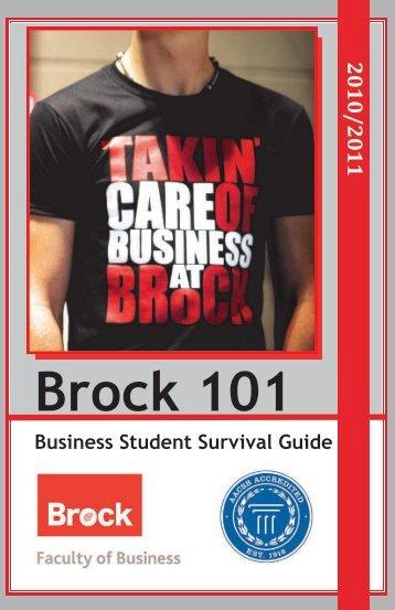 Brock 101 - Portal - Brock University