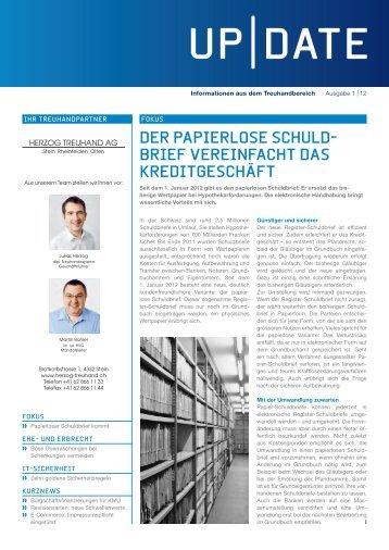 DER papIERlOSE SCHUlD - Herzog Treuhand AG