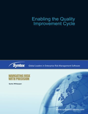 Improving Quality While Managing Risk-Related ... - ISSSource
