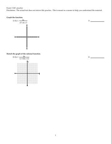Math 121, Practice Questions for Chapter 3 1. Use long