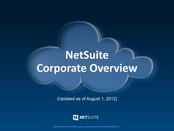 NetSuite Corporate Overview