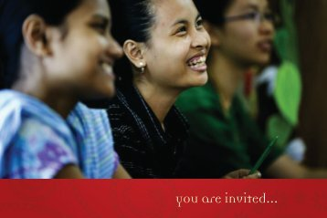 you are invited... - Asian University for Women