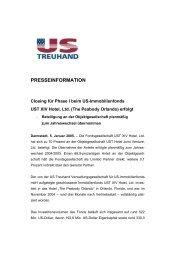 presseinformation - US-Treuhand