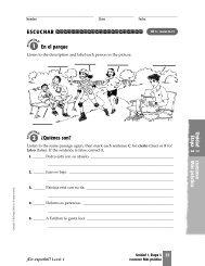 realidades 1 workbook answers pg 127