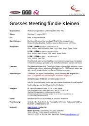 Grosses Meeting für die Kleinen - LA-Bern