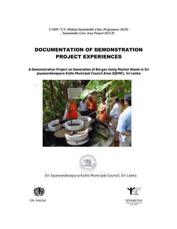 DOCUMENTATION OF DEMONSTRATION PROJECT EXPERIENCES