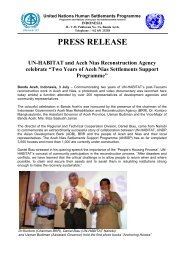 Two Years of Aceh-Nias Settlements Support Programme - UN-Habitat