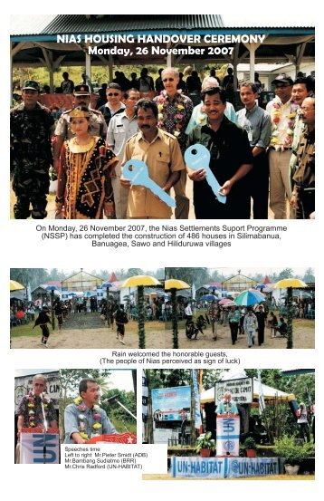 Photos from Hand Over Ceremony, Banda Aceh (PDF ... - UN-Habitat