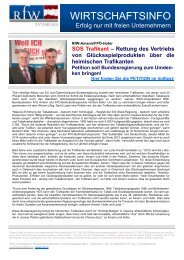 Newsletter und Petition - Ring Freiheitlicher Wirtschaftstreibender
