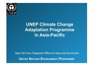 UNEP Climate Change Adaptation Programme in Asia-Pacific