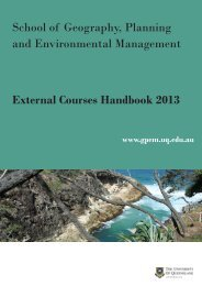 External Courses Handbook - School of Geography, Planning and ...