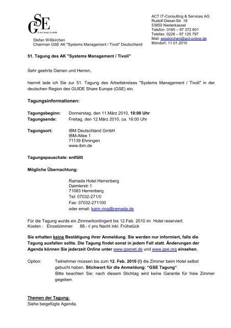 Einladung Einladung7 Pdf Guide Share Europe