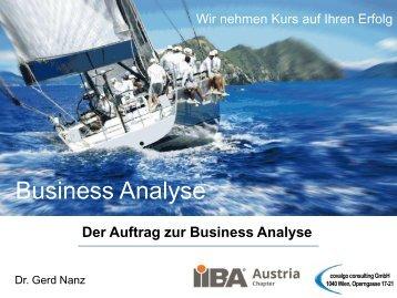 Business Analyse - IIBA Austria Chapter