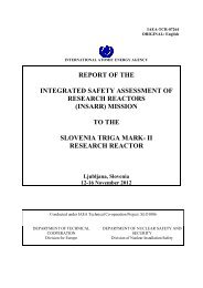 (insarr) mission to the slovenia triga mark- ii research reactor