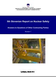5th Slovenian Report on Nuclear Safety Answers to Questions of ...