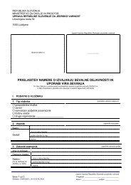 Obrazec - Uprava Republike Slovenije za jedrsko varnost