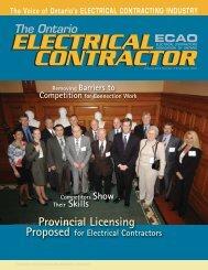 Summer 2004 - Electrical Contractors Association of Ontario