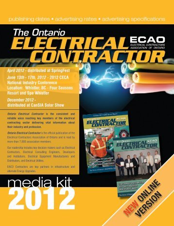 media kit - Electrical Contractors Association of Ontario
