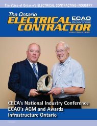 Fall 2007 - Electrical Contractors Association of Ontario