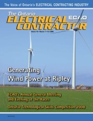 Fall 2008 - Electrical Contractors Association of Ontario