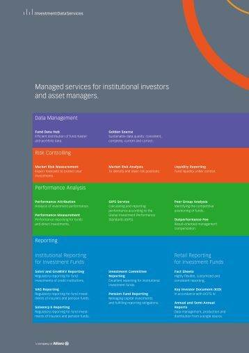Managed services for institutional investors and asset managers.