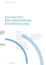 Success Story: KID-Implementierung bei AllianzGI Europe