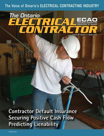 Winter 2008 - Electrical Contractors Association of Ontario