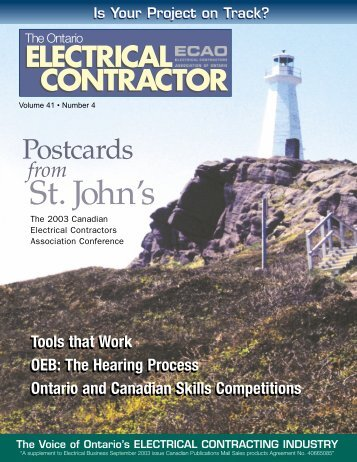 September 2003 - Electrical Contractors Association of Ontario