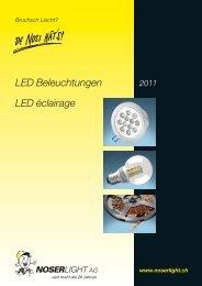 LED-Lampen - NOSERLIGHT AG, Ottenbacherstrasse 25, CH-8909 ...
