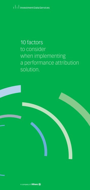 10 factors to consider when implementing a performance attribution ...